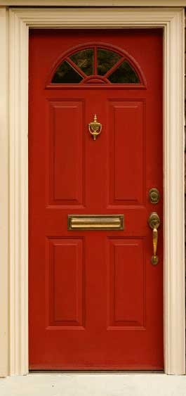 How To Paint A Front Door front door - fiberglass
