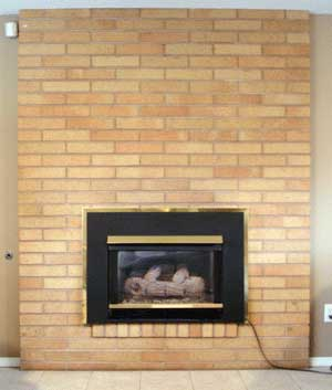 Paint An Interior Brick Fireplace
