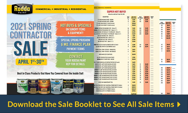 Download the Rodda Paint Spring Contractor Sale Booklet
